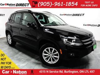 Used 2017 Volkswagen Tiguan Wolfsburg Edition| AWD| LEATHER| BACK UP CAMERA| for sale in Burlington, ON