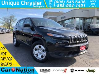 Used 2017 Jeep Cherokee Sport|LOW KMS|4X4|V6|BACK UP CAMERA| for sale in Burlington, ON