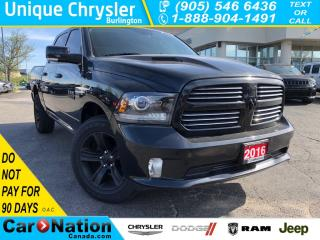 Used 2016 RAM 1500 Sport|BED LINER|BLACKED OUT|8.4 INCH SCREEN| for sale in Burlington, ON