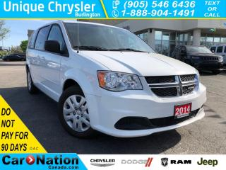 Used 2014 Dodge Grand Caravan SE/SXT|STOW N GO|DUAL CLIMATE CONTROL| for sale in Burlington, ON
