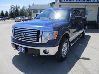 Used 2011 Ford F-150 READY TO WORK XLT MODEL 6 PASSENGER 5.0L - V8.. 4X4.. CREW.. SHORTY.. TRAILER BRAKE.. SYNC TECHNOLOGY.. KEYLESS ENTRY.. for sale in Bradford, ON