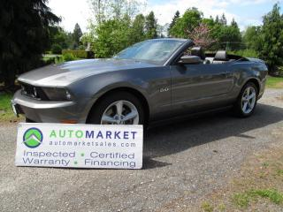 Used 2011 Ford Mustang GT Convertible, AUTO, INSP, FREE WARR, FINANCE for sale in Surrey, BC
