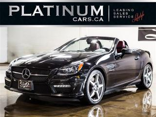 Used 2012 Mercedes-Benz SLK55 AMG ROADSTER, NAVI, AIRSCARF, RED LEATHER for sale in North York, ON