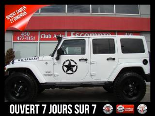Used 2017 Jeep Wrangler Unlimited Sahara GPS/NAV LIFT-HIT NEUF!! for sale in Mascouche, QC