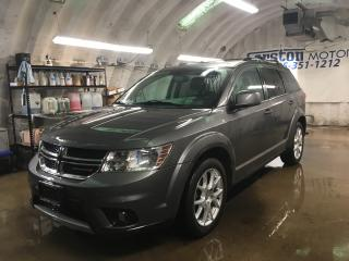Used 2013 Dodge Journey CREW*7 PASSENGER*REAR DVD PLAYER*ALPINE AUDIO*HEATED FRONT SEATS* HEATED STEERING WHEEL* U CONNECT PHONE*BACK UP CAMERA* REMOTE START*PUSH BUTTON IGNI for sale in Cambridge, ON