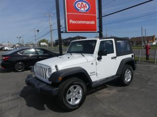 Used 2011 Jeep Wrangler Sport 4X4 for sale in Pintendre, QC