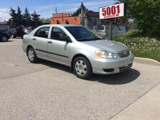 Used 2003 Toyota Corolla AUTO,$2988,SAFETY+3YEARS WARRANTY INCLUDED for sale in North York, ON