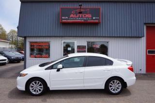 Used 2012 Honda Civic Lx Blanc 5 Vit for sale in Saint-romuald, QC