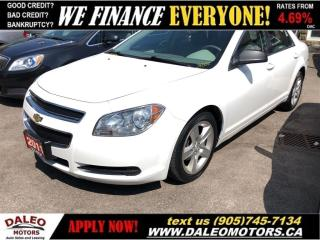 Used 2011 Chevrolet Malibu LS| LOW KMS| POWER LOCKS & WINDOWS| CERTIFIED for sale in Hamilton, ON