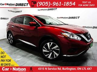 Used 2017 Nissan Murano Platinum| AWD| DUAL SUNROOF| NAVI| LEATHER| for sale in Burlington, ON