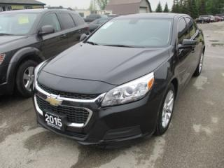Used 2015 Chevrolet Malibu LOADED 1-LT MODEL 5 PASSENGER 2.5L - ECO-TEC.. LEATHER TRIM.. POWER SUNROOF.. TOUCH SCREEN.. BACK-UP CAMERA.. CD/AUX/USB INPUT.. for sale in Bradford, ON