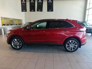 Used 2015 Ford Edge Titanium - B/U Cam, Sunroof, Nav, Heated Leather + Remote Start! for sale in Red Deer, AB