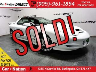 Used 2000 Pontiac Firebird Trans Am WS6| T-TOPS| LEATHER| for sale in Burlington, ON