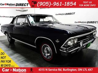Used 1966 Chevrolet Chevelle SS| AS-TRADED| LOW KM'S| OPEN SUNDAYS| for sale in Burlington, ON