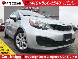 Used 2014 Kia Rio LX+ w/ECO | HEATED SEATS | BLUETOOTH | for sale in Georgetown, ON