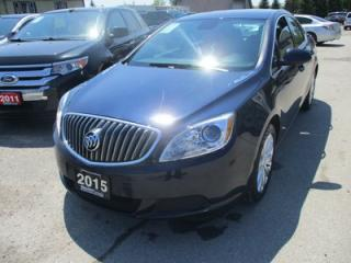 Used 2015 Buick Verano FUEL EFFICIENT LOADED 5 PASSENGER 2.4L - ECO-TEC.. LEATHER TRIM.. TOUCH SCREEN.. BACK-UP CAMERA.. BLUETOOTH SYSTEM.. for sale in Bradford, ON