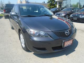Used 2005 Mazda MAZDA3 GS Manual 5 PASSENGERS, PA,PL,PM SAFETY E TEST INC for sale in Oakville, ON