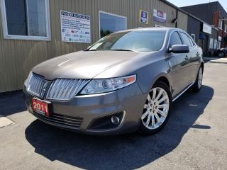 Used 2011 Lincoln MKS NAVIGATION-PAN ROOF-LEATHER-BACK UP CAMERA for sale in Tilbury, ON