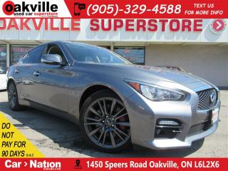 Used 2017 Infiniti Q50 Red Sport 400 | LEATHER | AWD | NAV | B/U CAM for sale in Oakville, ON