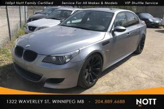 Used 2007 BMW M5 M5 500hp V10 *SMG Gearbox*Nav* for sale in Winnipeg, MB