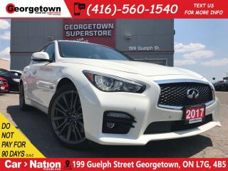 Used 2017 Infiniti Q50 3.0t Red Sport | NAVI | RARE | for sale in Georgetown, ON
