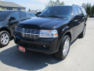 Used 2013 Lincoln Navigator LOADED LIMITED EDITION 7 PASSENGER 5.4L - V8.. 4X4.. CAPTAINS.. 3RD ROW.. LEATHER.. HEATED/AC SEATS.. NAVIGATION.. SUNROOF.. BACK-UP CAMERA.. for sale in Bradford, ON