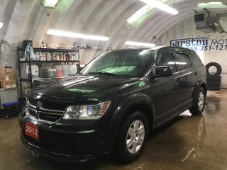 Used 2012 Dodge Journey SE PLUS*KEYLESS ENTRY*DUAL ZONE CLIMATE CONTROL*TRACTION CONTROL*CRUISE CONTROL*PUSH BUTTON IGNITION*RAIN GUARDS/HOOD DEFLECTOR* for sale in Cambridge, ON