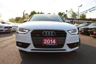 Used 2014 Audi A4 Komfort LEATHER ROOF ACCIDENT FREE for sale in Brampton, ON