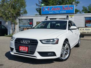 Used 2013 Audi A4 Premium PLUS quattro W PUSH START AND NAVI for sale in Brampton, ON