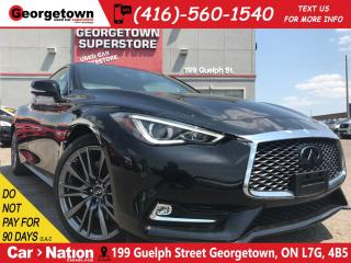 Used 2017 Infiniti Q60 3.0t Red Sport 400 | BRAND NEW|  NAVI | PANO for sale in Georgetown, ON
