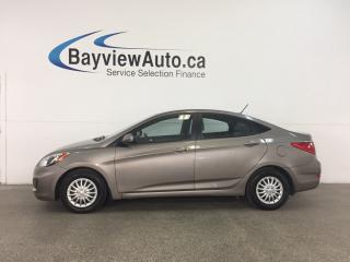 Used 2014 Hyundai Accent - KEYLESS ENTRY! HTD SEATS! A/C! BLUETOOTH! CRUISE! for sale in Belleville, ON