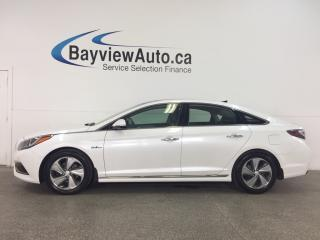 Used 2016 Hyundai Sonata Hybrid Limited - PANOROOF! HTD LTHR! DUAL CLIMATE! NAV! RCTA! for sale in Belleville, ON