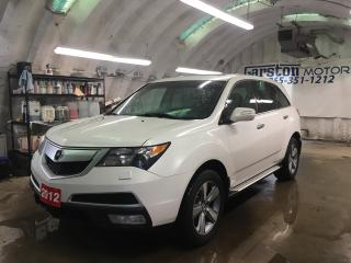Used 2012 Acura MDX TECH PACK*NAVIGATION*LEATHER*POWER SUNROOF*REAR DVD PLAYER*HEATED FRONT/REAR SEATS*BACK UP CAMERA*PHONE CONNECT*7 PASSENGER*WIRELESS DVD HEADPHONES*PO for sale in Cambridge, ON