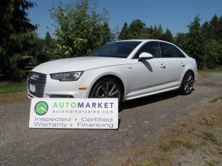 Used 2017 Audi A4 S-LINE, QUATTRO, LOADED, FACTORY WARRANTY for sale in Surrey, BC