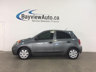 Used 2016 Nissan Micra - 5 SPEED! TINT! GAS BUDDY! for sale in Belleville, ON