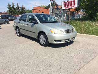 Used 2003 Toyota Corolla AUTO,126KM,SAFETY+3YEARS WARRANTY INCLUDED for sale in North York, ON