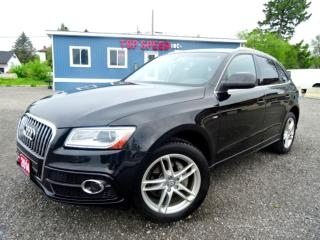 Used 2014 Audi Q5 2.0T Progressiv S-LINE/LED XENON/LEATHER/BACKUP SENSORS/NO ACCIDENT/SAFETY INCLUDED for sale in Guelph, ON