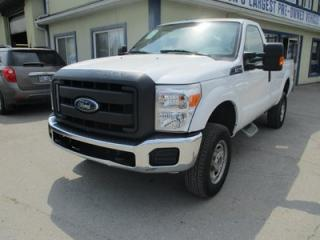 Used 2016 Ford F-250 WORK READY SUPER-DUTY MODEL 3 PASSENGER 6.2L - V8.. 4X4.. REGULAR CAB.. 8-FOOT LONG BOX.. FACTORY WARRANTY.. TOW SUPPORT.. AIR CONDITIONING.. for sale in Bradford, ON