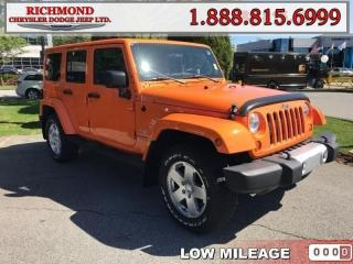 Used 2012 Jeep Wrangler Unlimited Sahara for sale in Richmond, BC