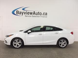 Used 2018 Chevrolet Cruze Premier Auto - PUSH START! HTD LTHR! REV CAM! ONSTAR! WIFI! for sale in Belleville, ON