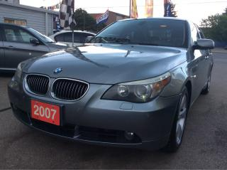 Used 2007 BMW 5 Series 530i/Bluetooth/Backup Sensor/ Roof/Leather Seats for sale in Scarborough, ON