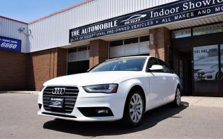 Used 2013 Audi A4 Premium AWD Quattro MANUAL SUNROOF LEATHER for sale in Mississauga, ON