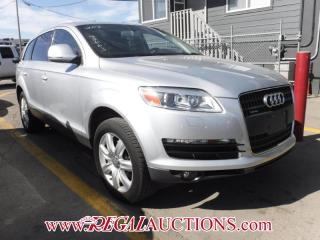 Used 2007 Audi Q7  4D UTILITY 3.6 AWD for sale in Calgary, AB