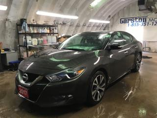 Used 2017 Nissan Maxima SL*3.5L*NAVIGATION*LEATHER*POWER PANORAMIC SUNROOF*BACK UP CAMERA*KEYLESS ENTRY w/REMOTE START*BOSE AUDIO*SPORT MODE*HEATED STEERING WHEEL*POWER HEATE for sale in Cambridge, ON