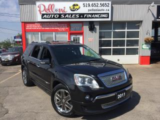 Used 2011 GMC Acadia DENALI AWD NAVIGATION DOUBLE MOONROOF for sale in London, ON