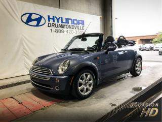 Used 2007 MINI Cooper CONVERTIBLE CONVERTIBLE + MAGS + CUIR + A/C + PADDLE for sale in Drummondville, QC
