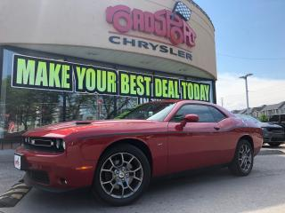Used 2017 Dodge Challenger GT NAVI P-ROOF RED LTHR BLIND SPOT R-CAM for sale in Scarborough, ON