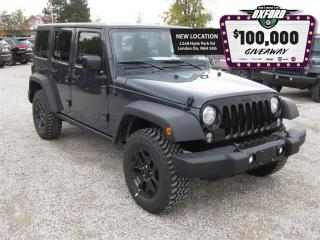 Used 2017 Jeep Wrangler Unlimited Sport - Dual Tops, Bluetooth, Touch Scre for sale in London, ON