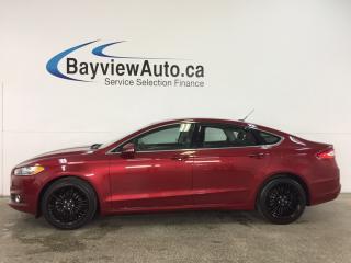 Used 2014 Ford Fusion SE - ECOBOOST! REM START! ALLOYS! HTD LTHR! NAV! SYNC! for sale in Belleville, ON