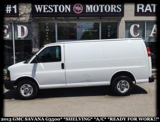 Used 2013 GMC Savana G3500*SHELVING*A/C*READY FOR WORK!!* for sale in York, ON